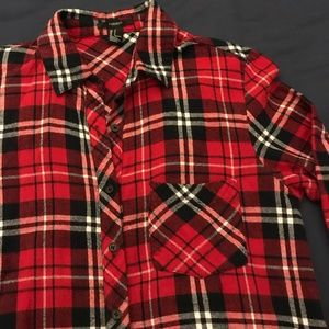 Red/White/Navy Blue Flannel